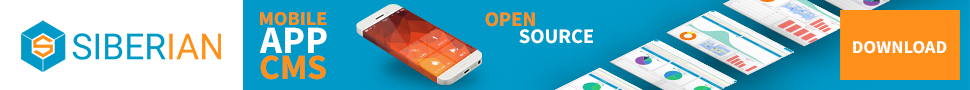 Siberian CMS, free and open-source app creator. Build your mobile app for free for iPhone and Android.
