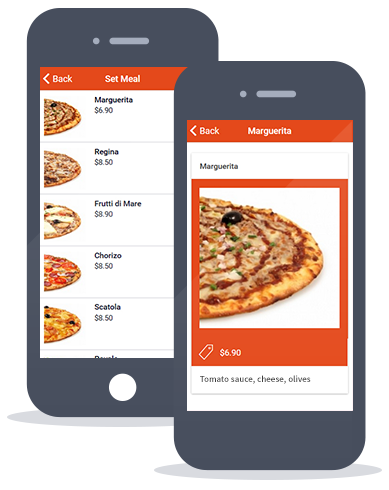 Siberian CMS App Maker's Set meals feature