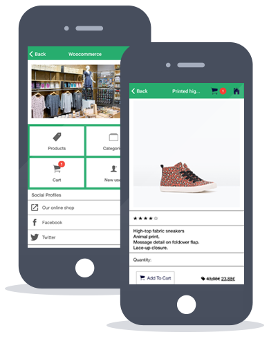 Siberian CMS App Maker's Woocommerce feature